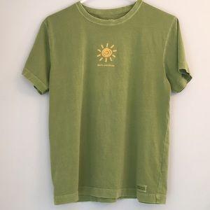 "Life is Good ""Hello Sunshine "" Graphic T-shirt M"